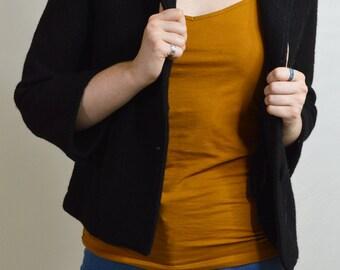 Kenar 1/4 Sleeve Wool Jacket