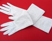 Silver Lurex Long Gloves