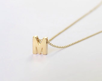 Gold filled Initial Necklace, Gold Initial Necklace, Lowercase Initial Necklace, Dainty Initial Necklace, Tiny Gold Initial Necklace
