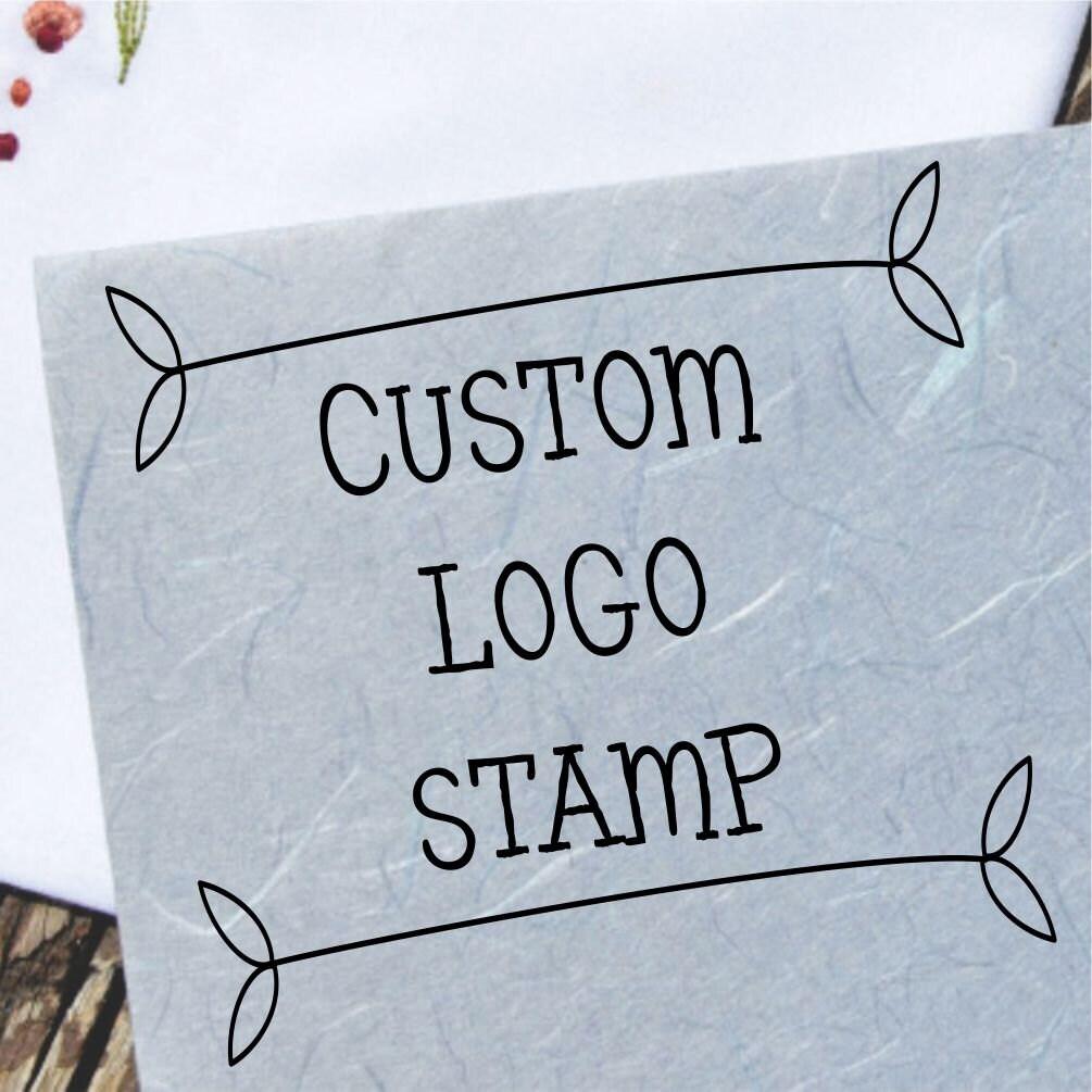 Items similar to Custom Logo Stamp - Rubber Stamp Hand ...   Custom Logo Rubber