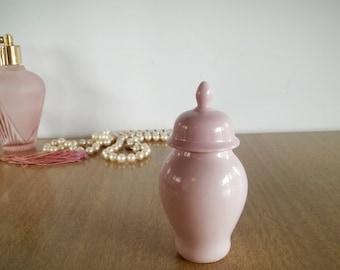 Limoges Martial Redon Lidded Vase, Vintage Limoges M&R France Miniature Vase Salmon Pink