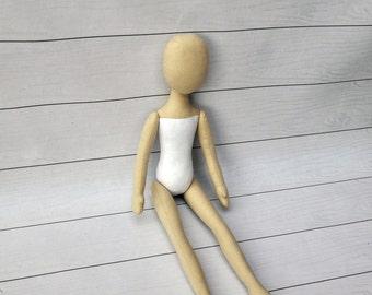 """Blank doll body-14,5"""",blank rag doll, ragdoll body,the body of the doll made of cloth"""