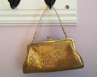 La Regale Gold Mesh Purse - Vintage