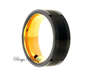 Wedding Bands, Wedding Rings, Tungsten Rings, Tungsten Bands, Engagement Rings, His and Her Promise Rings, Engagement Gift, Balck Rings 8mm