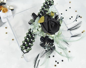 Wedding corsage, Mother of the groom, Prom wrist corsage, Wedding flowers, Alternative bride bouquet, Bridal accessory, Bridesmaid flowers