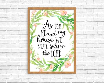As For Me And My House We Shall Serve The Lord Print