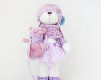 Easter bunny Plush stuffed bunny rabbit soft toy, Big toy gift, gift for the child, bunny doll with Clothes, small bear