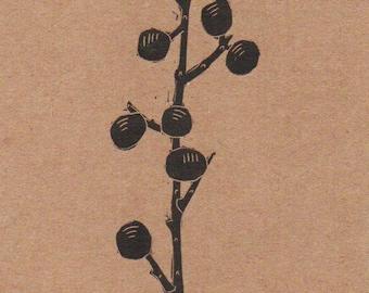 Amsterdam Winter Berry Card