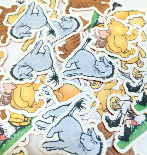 Confetti Winnie the Pooh, Party Decor, Birthday, Baby Shower, Table Confetti, Party Confetti, Baby Shower Decor, Die Cuts, Paper Decoration