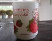 Vintage Strawberry Shortcake Glass Milk Glass Mug