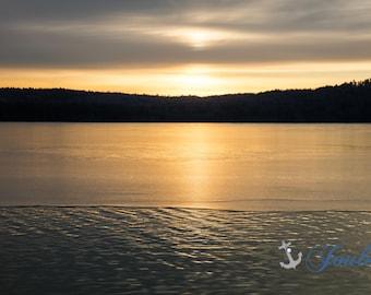 Winter Serenity ~ Lake Winnipesaukee, Meredith, New Hampshire, Church Landing, Lake Photography, Sunrise, Winter, Wall Decor, Joules, Earth