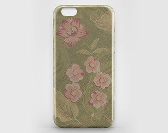 iPhone Case Vintage Flower Phone Case iPhone 7 Case iPhone 7 Plus Green iPhone 6 Plus Case Pink Floral iPhone 4-5 Case iPhone SE Galaxy S7