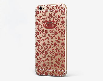 Crown Phone Case Queen iPhone 7 Case Flower iPhone 6S Case iPhone 7 Plus Queen iPhone 6 Plus Floral iPhone 4 Case iPhone SE Crown iPhone 4-5