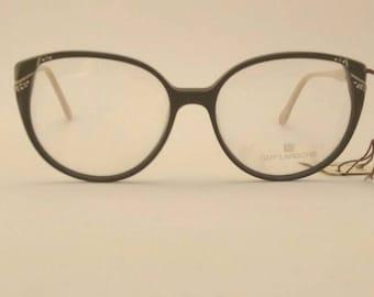 Vintage Guy Laroche by Swan Eyeglass, Frames, Made in Hong Kong, Rhinestones