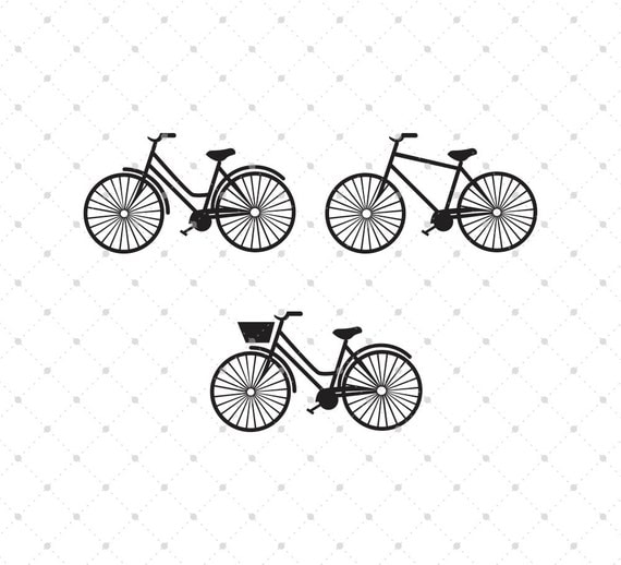 Bicycle Svg Cut Files For Cricut Silhouette And Other Vinyl