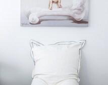 BIG PILLOW,white floor cushion, white beanbag, home decor rustic, gift for boys, gift for teens,dorm furniture ideas,big pillow.