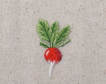 Turnip - Radish - Garden Vegetable - Embroidered Patch - Iron on Applique - 150367-A