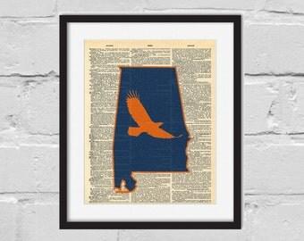 Auburn Print. Dictionary Art Print.
