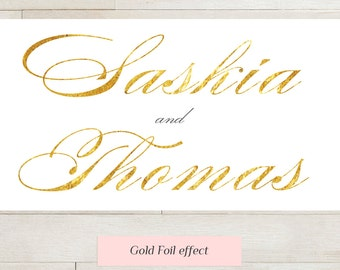 Printable Wedding Invitation suite gold foil effect | Wedding set | RSVP and info card | Any colour | Custom Wedding invite