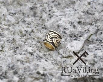 Eitri - Viking beard bead - 6 mm inner diameter - bronze - beard ring / bead - handmade