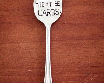 My Soulmate Might Be Carbs. Souvenir Spoon Magnet