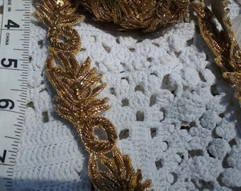 3 Yards Ornate Gold  Trim