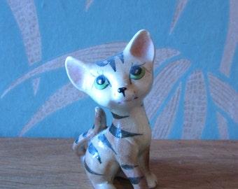 Vintage Japanware ceramic tiger kitten