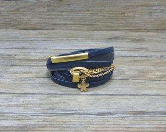 Leather bracelet, Woman bracelet, Wrap bracelet , Handmade bracelet , Casual bracelet.