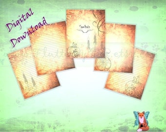 Samhain Packet for Book of Shadows 5 Pages, Samhain Pages, Samhain Set, Sabbat Pages, Book of Shadows Set, Book of Shadows, Grimoire Pages