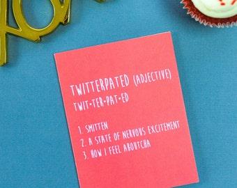 Twitterpated Card, Love, Crush