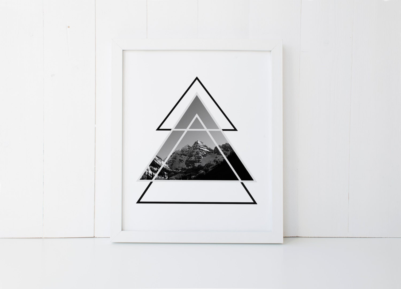 Geometric Triangle Art Geometric Print Triangle Print
