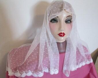 Victorian Tambour Lace Veil Circa 1880
