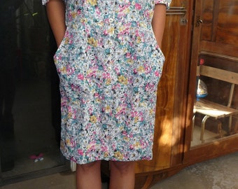 Robe fleurie vintage 80s Taille 40