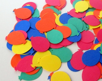 300-Balloon confetti-Birthday Party Decorations-kids Party supply-multi color-Balloon punches-scrapbooking die cuts-paper balloons-childrens