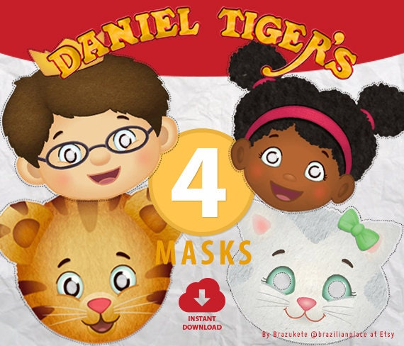 daniel tiger u0026 39 s neighborhood funny masks printable party