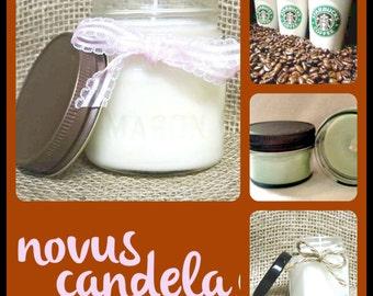 Mason Jar Candle - Soy Candle - Soy Scented Candle - Starbucks Candle - Starbucks Coffee Candle - Jar Candle - Housewarming Gift - 4 8 oz