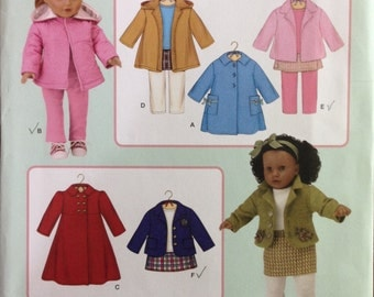 Simplicity 3551 - 18 Inch Doll Coat Collection with Pants and Skirt