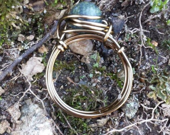 Russian Jade Wire - Wrapped Ring