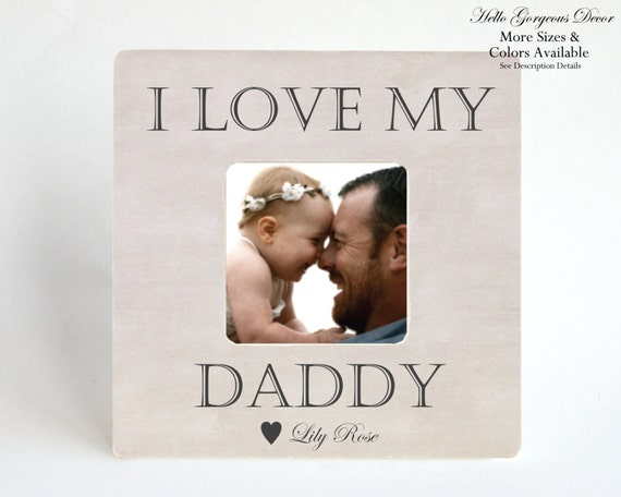 Christmas gift to dad from daughter son baby picture frame i love christmas gift to dad from daughter son baby picture frame i love my daddy personalized custom present ideas new father parent baby newborn from negle Gallery