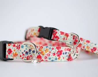 Liberty 'Phoebe' fabric, Small Dog or Puppy Collar, Made To Measure