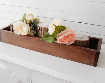 Wood Centerpiece Box- Rustic Centerpiece Box- Wedding Centerpiece Box- Sweetheart Table Centerpiece- Head Table Centerpiece- Rustic Wedding