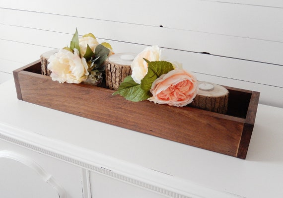 Wooden Head Table ~ Wood centerpiece box rustic wedding