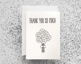 Card, Thank You Card, Thank You So Much, Thank You So Much Card, Greetings Card, Thank You