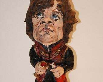 Tyrion Lannister Sculpture, Game of thrones, caricature, Peter Dinklage