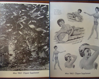 Vintage Graphics; Vintage Fonts; Vintage Clip Art; Clipper Art Service; Black and White; Tearsheets; Summer Images; Pin-Up Girl; May '63