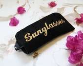 Black sunglasses case,  Sunglasses case, leather sunglasses case , glasses cases, eye wear cases, sunglasses pouch