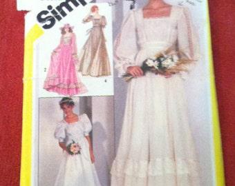 1981 Simplicity 5362 Pattern Brides or Bridesmaids' Dress 1981