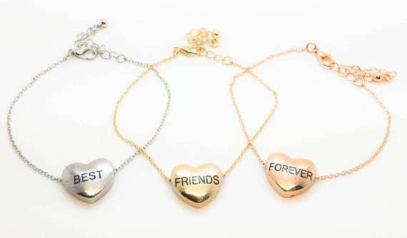 3 best friend necklace  Etsy