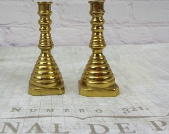 Set of Brass Candlestick Holders // Vintage Home Decor // Candle Holder