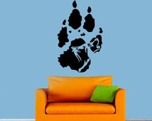 Wolf Trail Wall Decal Vinyl Sticker Animals Decals Howling Wolf Wall Decal Bedroom Kids Room Interior